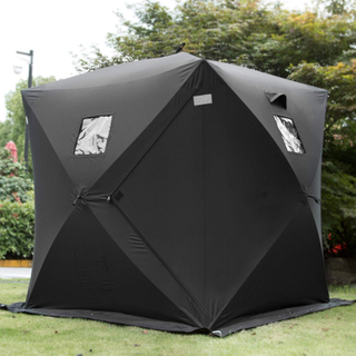 Popsport 2/3/4/8 Person Ice Fishing Shelter Tent 300d Oxford Fabric Portable Ice Shelter Strong Waterproof Ice Fish Shelter
