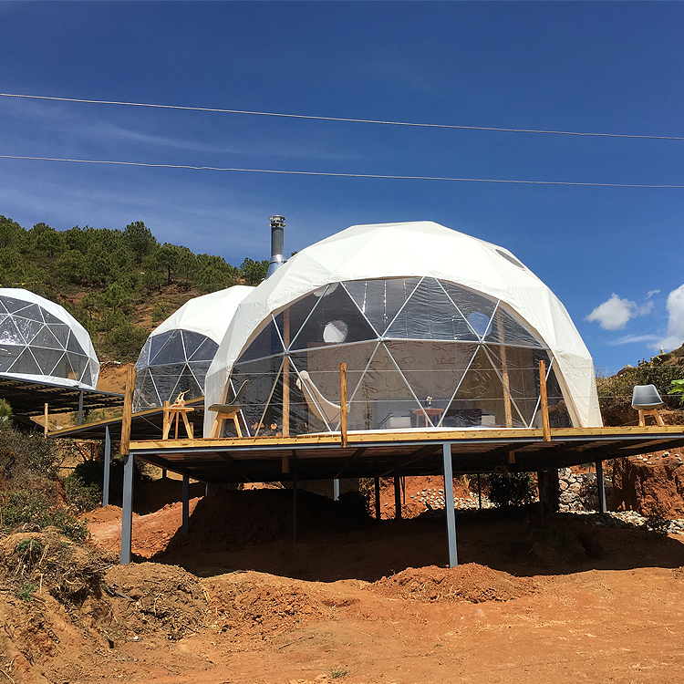 Star globe tent Hotel transparent bubble house wild luxury holiday camp hemispherical outdoor camping tent
